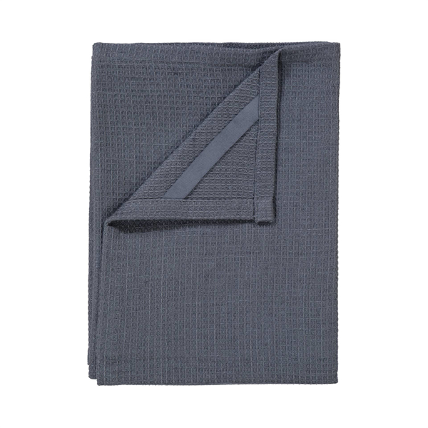 Grid Tea Towels Set of 2 - Gunmetal