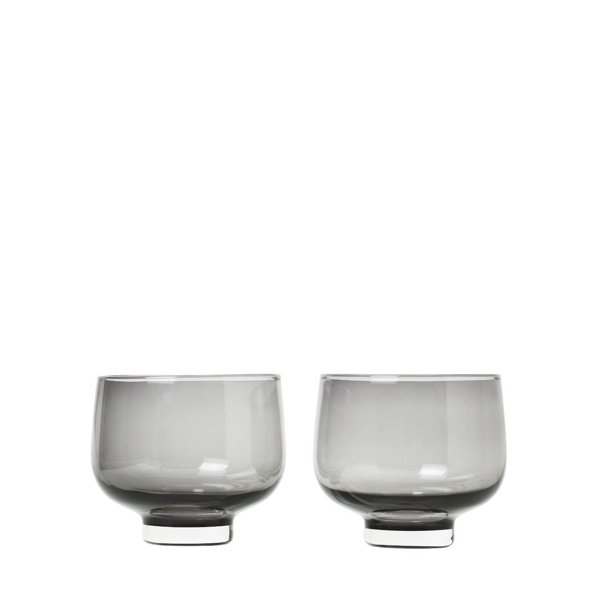Flow Glasses 7 Ounce Set of 2 - Smoked