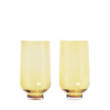 Flow Glasses 14 Ounce - Set of 2 - Gold